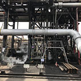 化工工場 3吸気PC海水配管工事