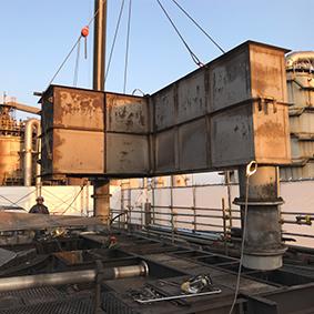 冷却塔解体撤去更新工事