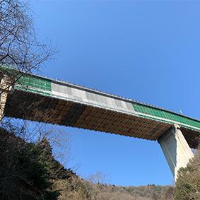 坂尻橋PA2~PA3経間鈑桁通常吊足場